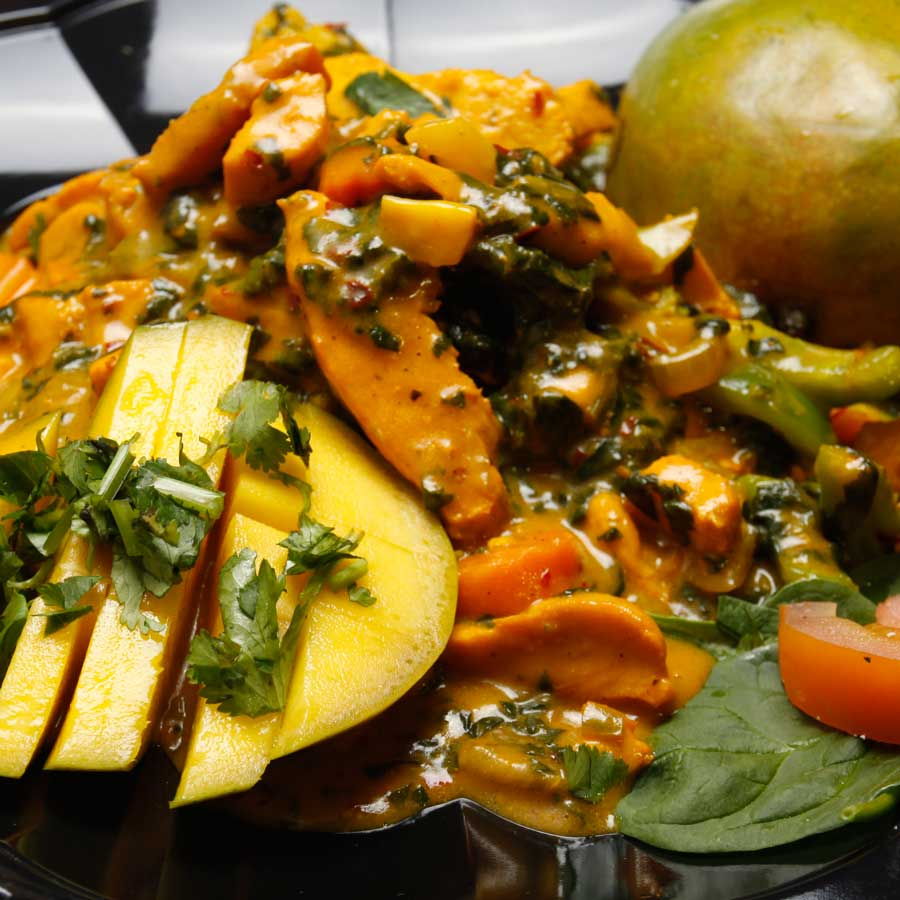 Safari Express Mango Chicken Dish Food Photography by Moda Photography for Cordavii Consulting