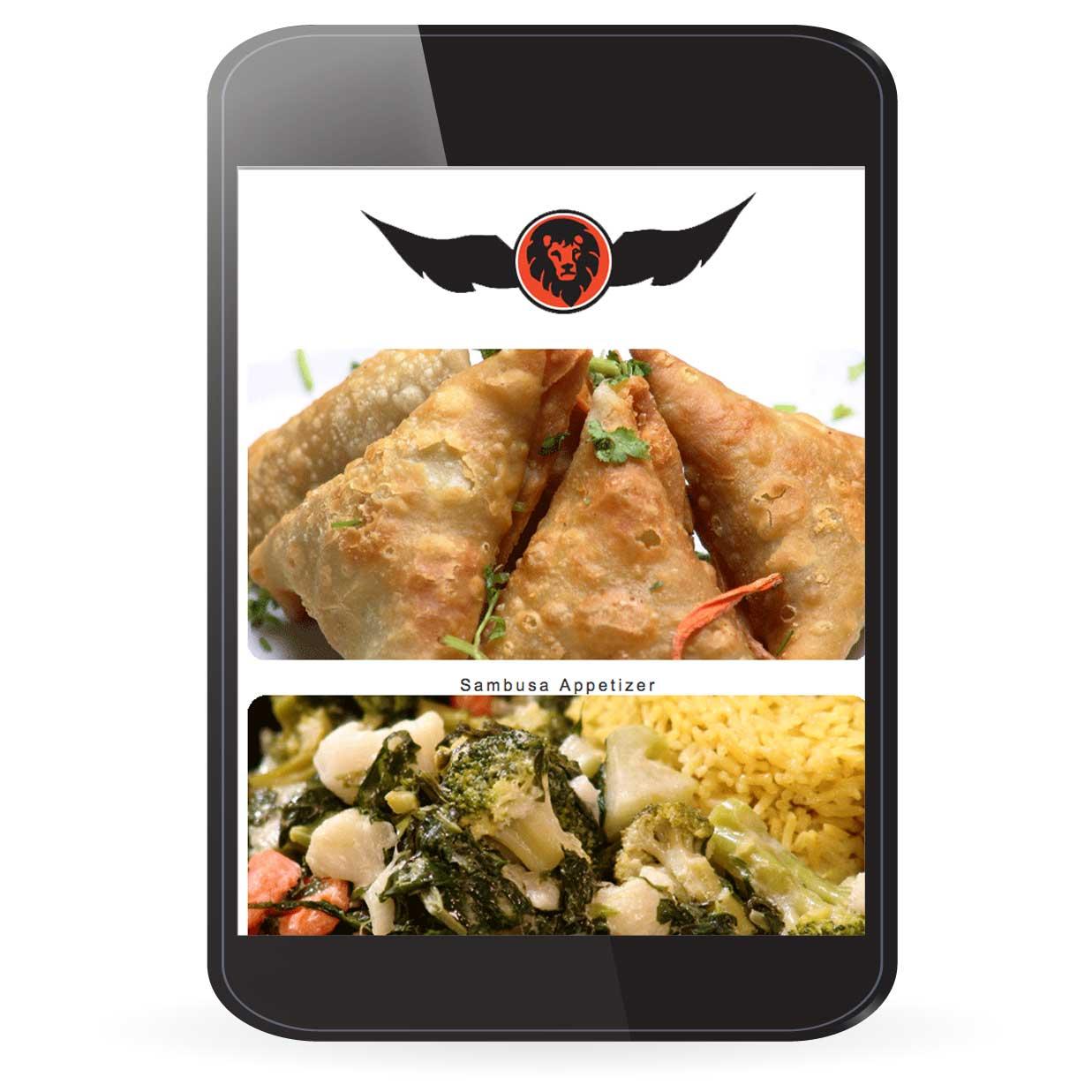 Safari Express Website Design on Tablet