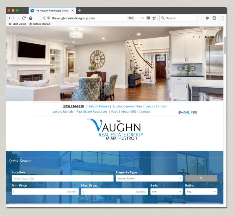The Vaughn Real Estate Website