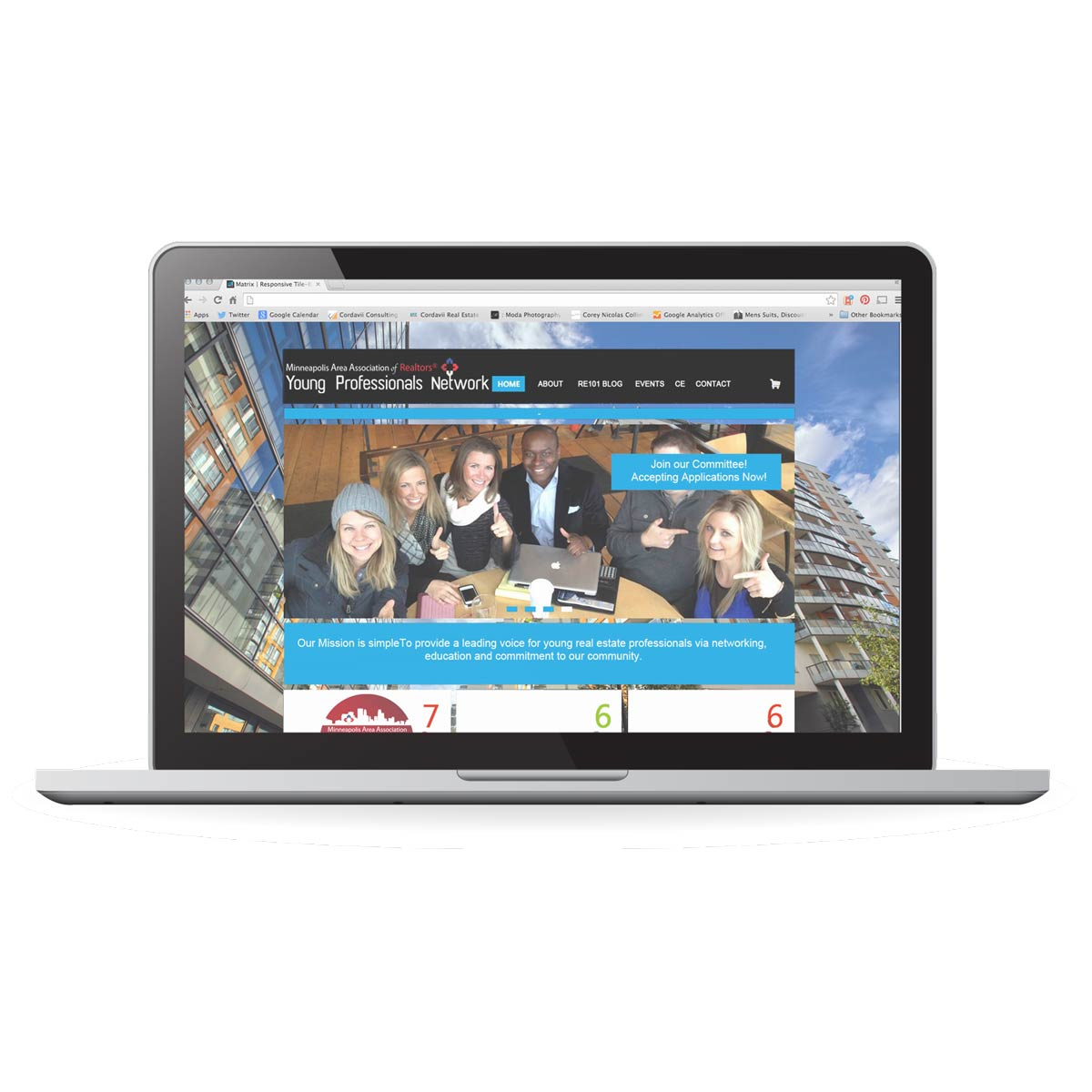 Minneapolis Area Association of Realtors Young Professionals network website design