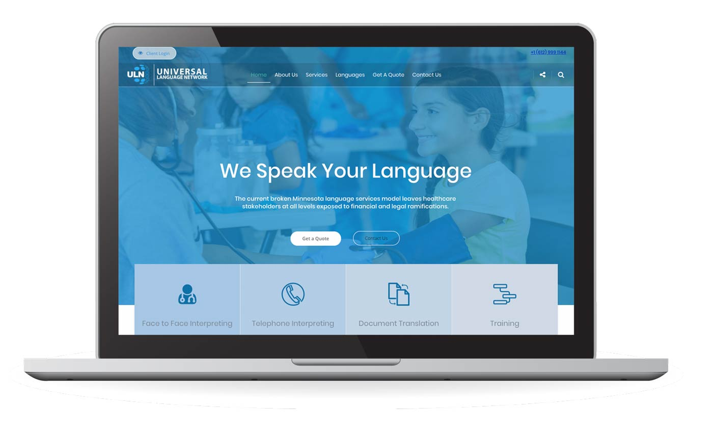 Universal Language Network Website Redesign