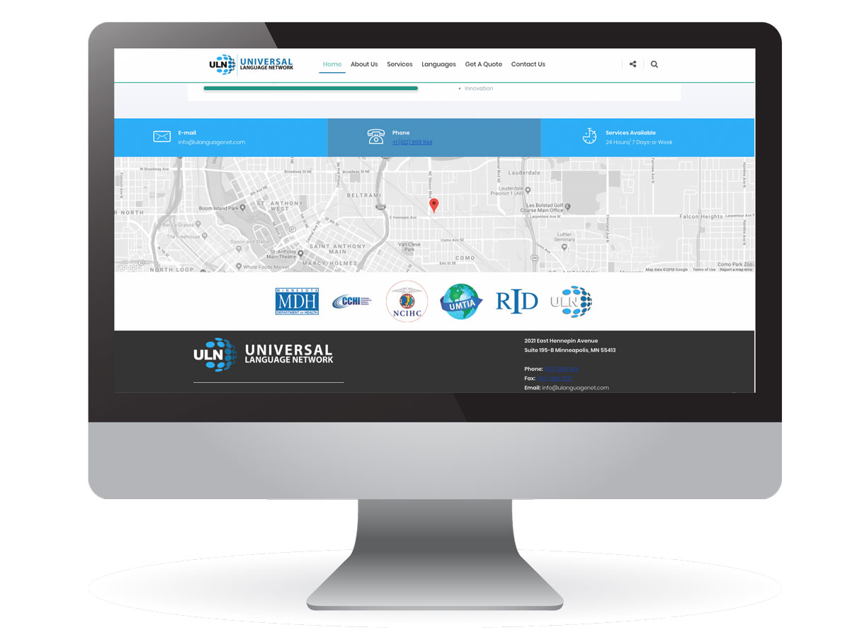 Universal Language Network Website Redesign
