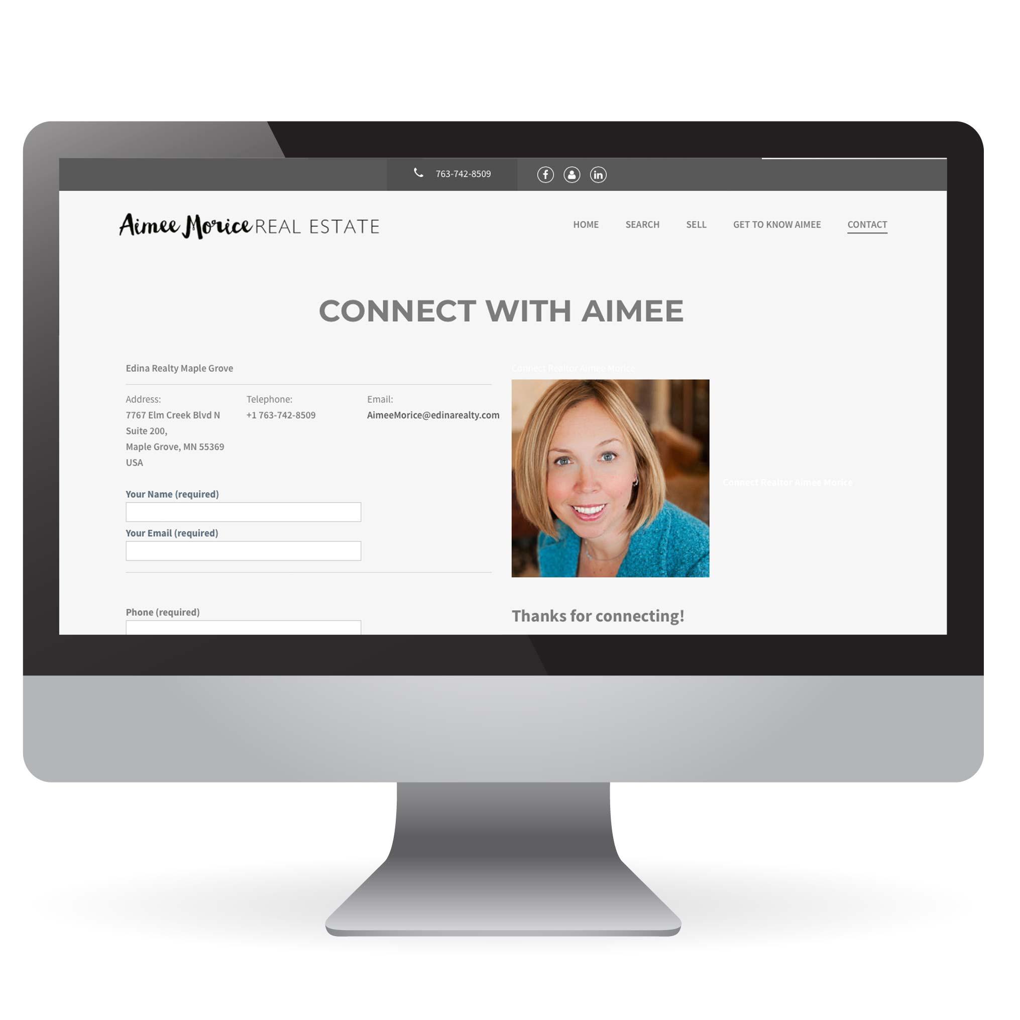 Aimee Morice Real Estate IDX Website Design