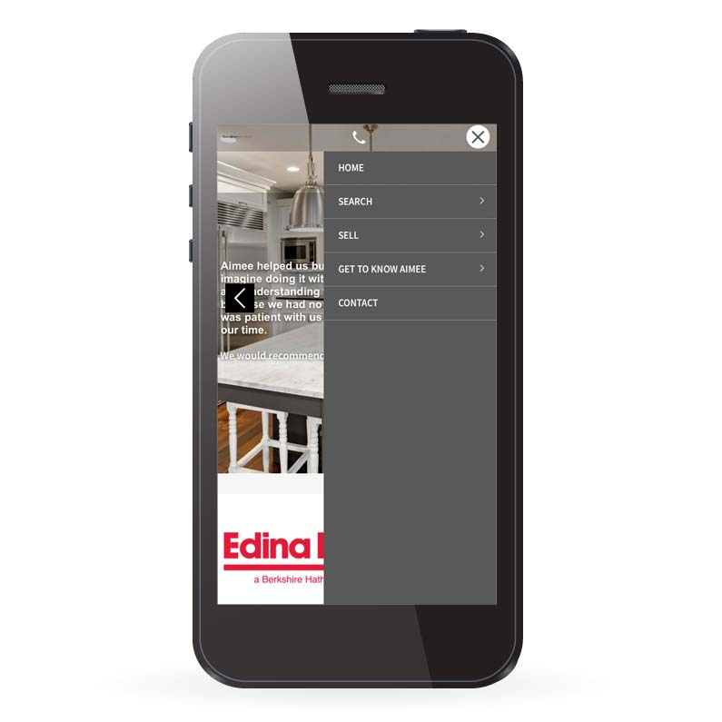 Edina Realty Real Estate IDX Website Design