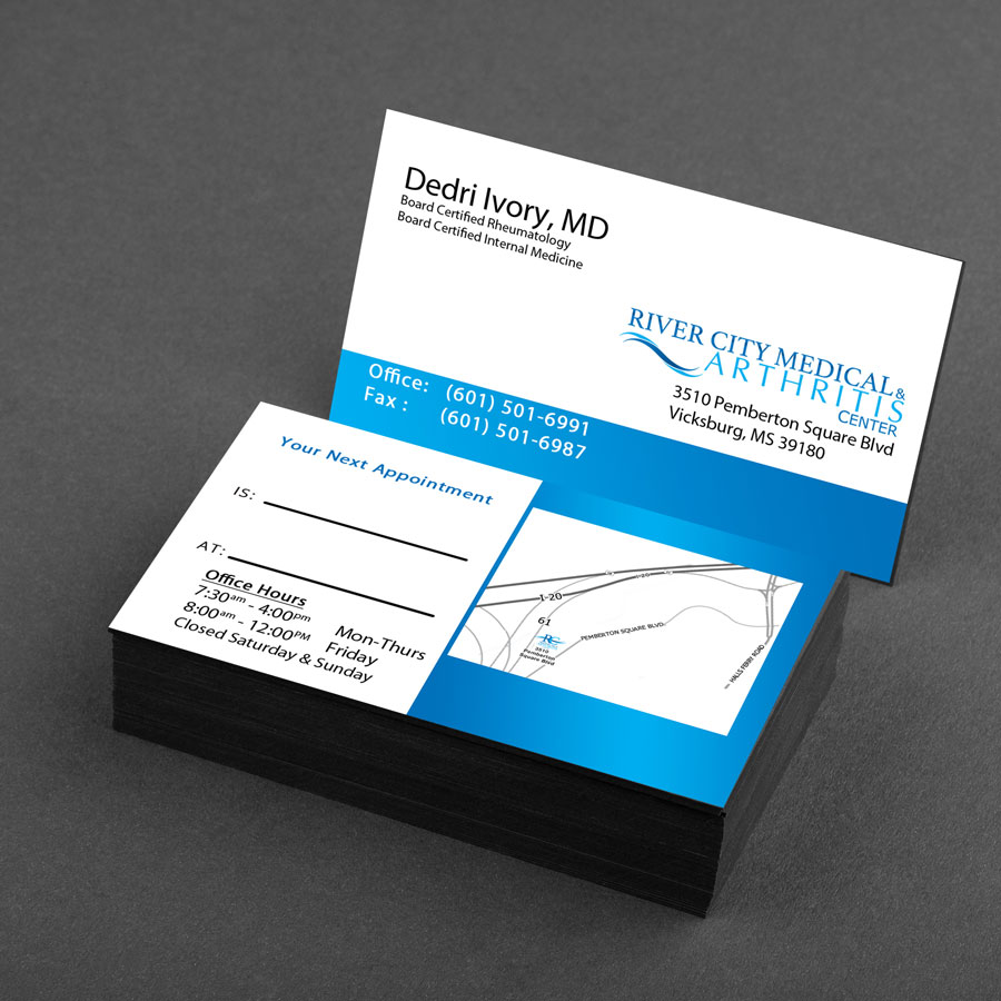 Medical Brand Design Business Cards for River City Medical by Cordavii Brand Consulting