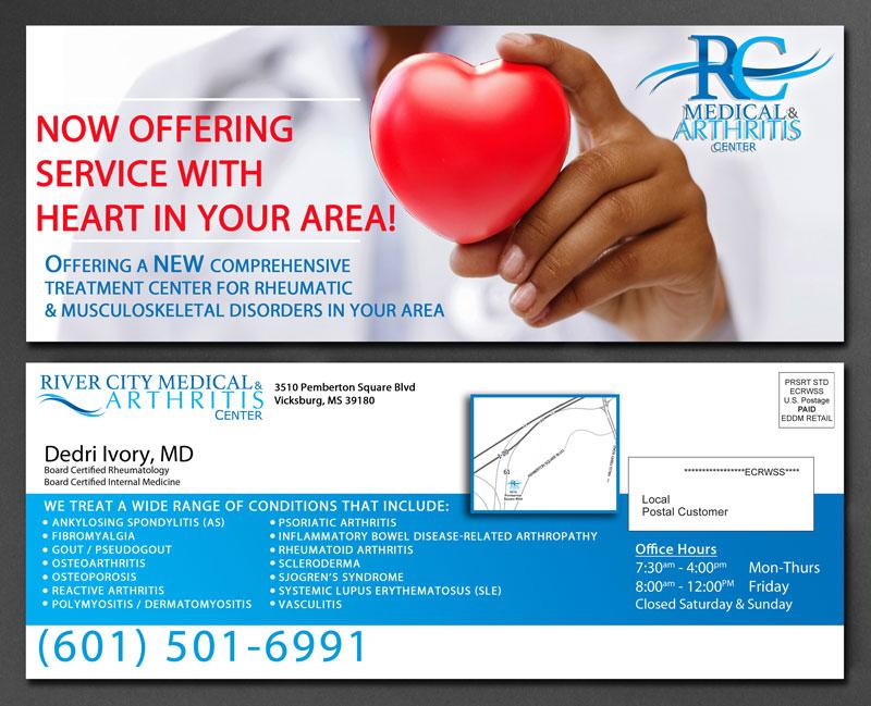 Medical Brand Design EDDM for River City Medical by Cordavii Brand Consulting