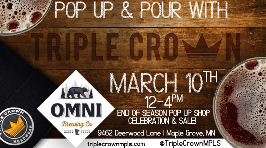 Triple Crown Headwear Pop Up Shop at Omni Brewery