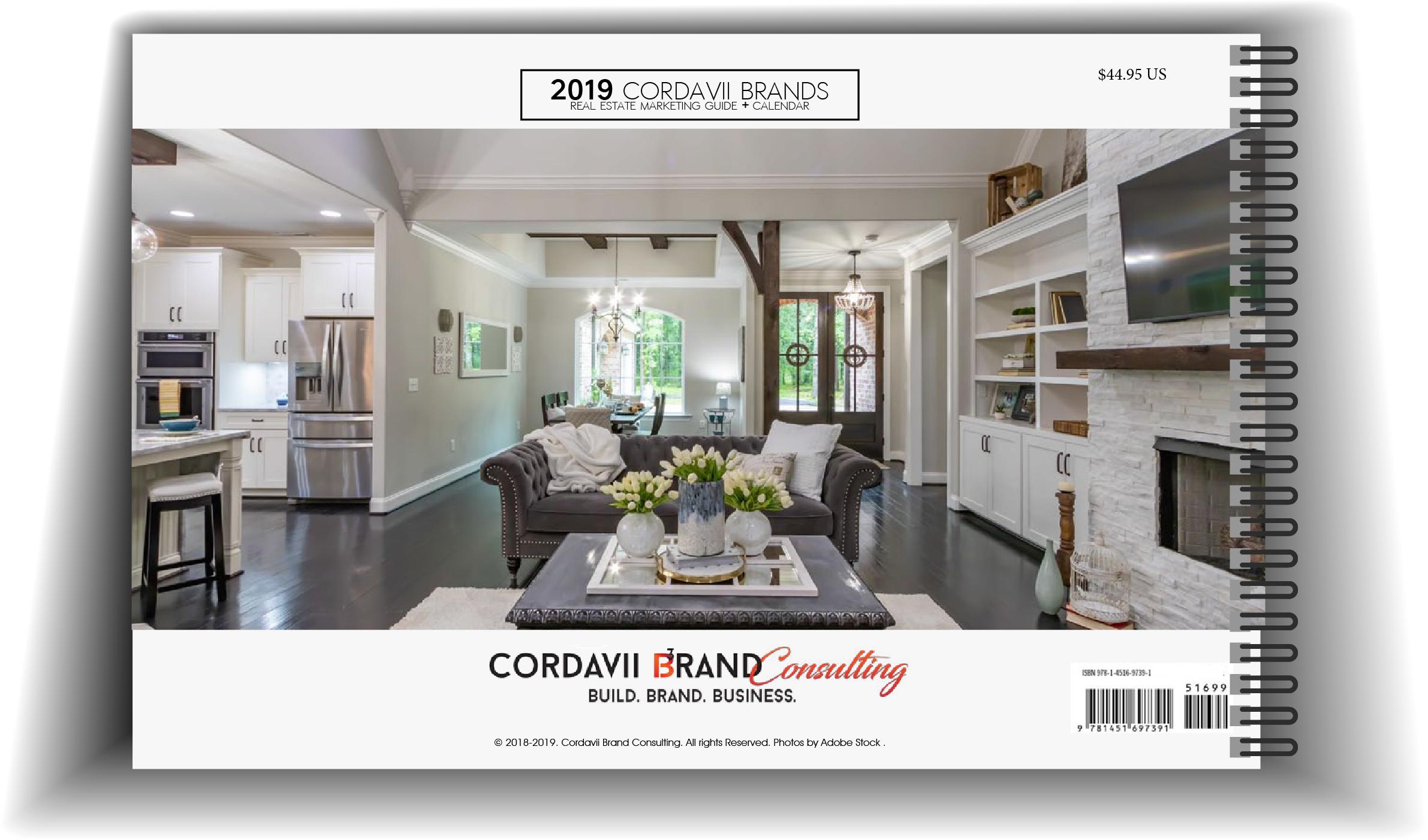 Cordavii 2019 Real Estate Marketing Calendar Back Cover