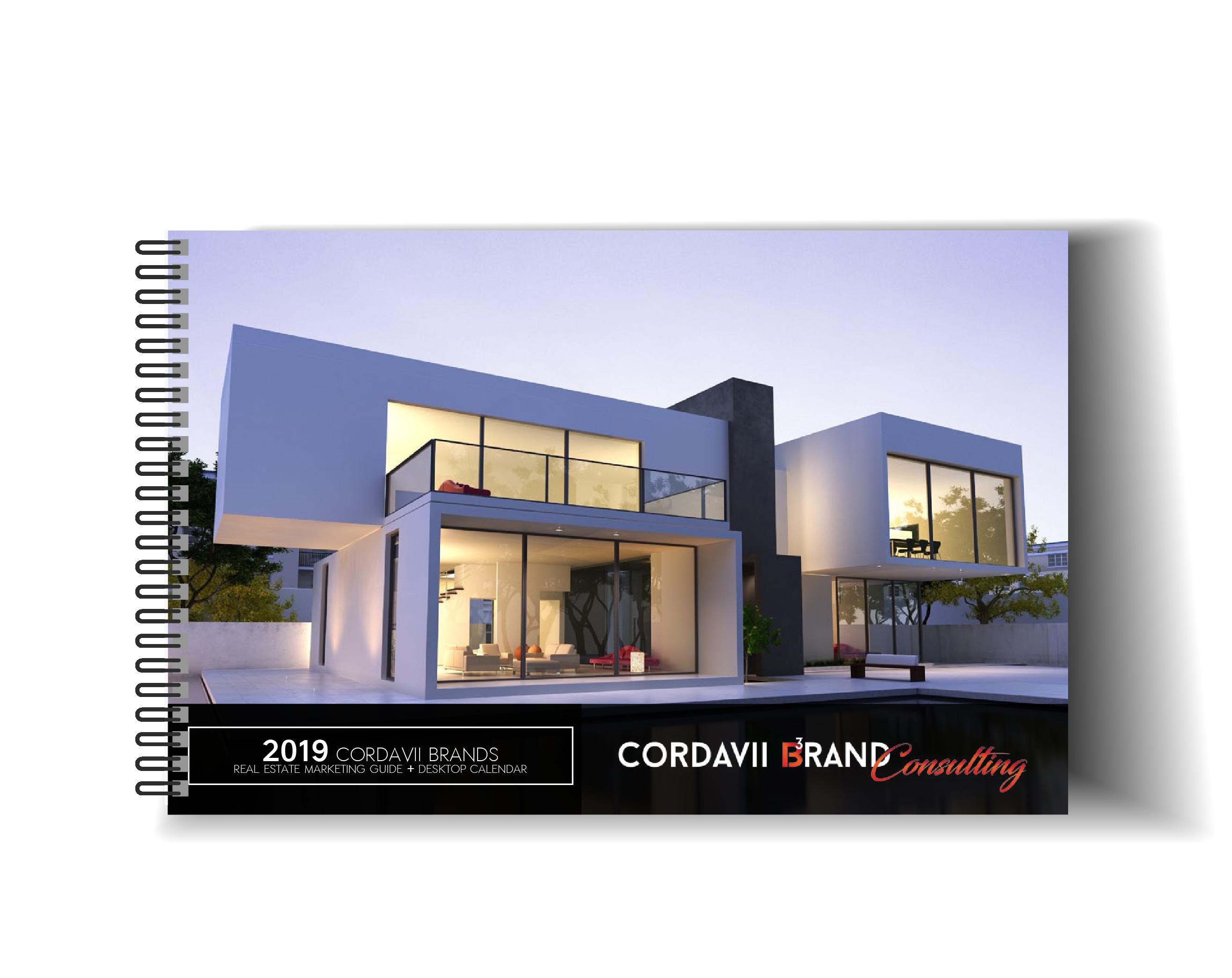 Cordavii 2019 Real Estate Marketing Calendar Front Cover