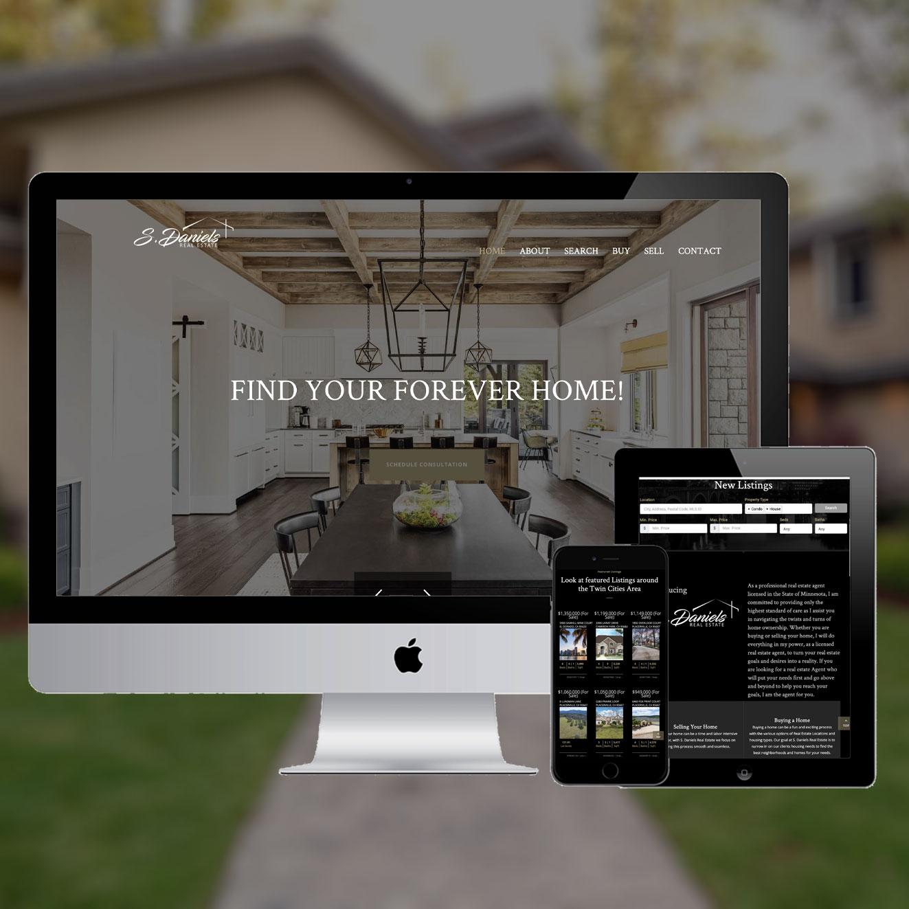 Real Estate Website design with IDX