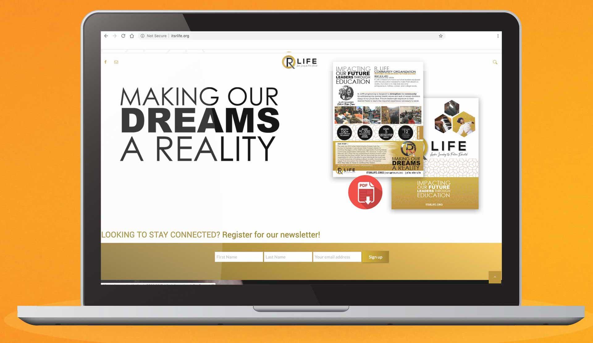R LIFE Community Organization Non Profit Website Design