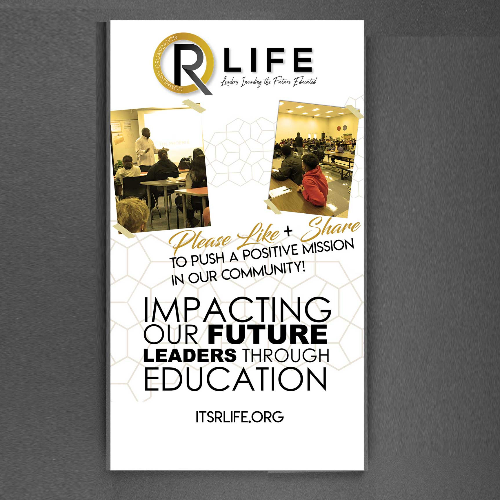R LIFE Community Organization Non Profit Banner Ad Design