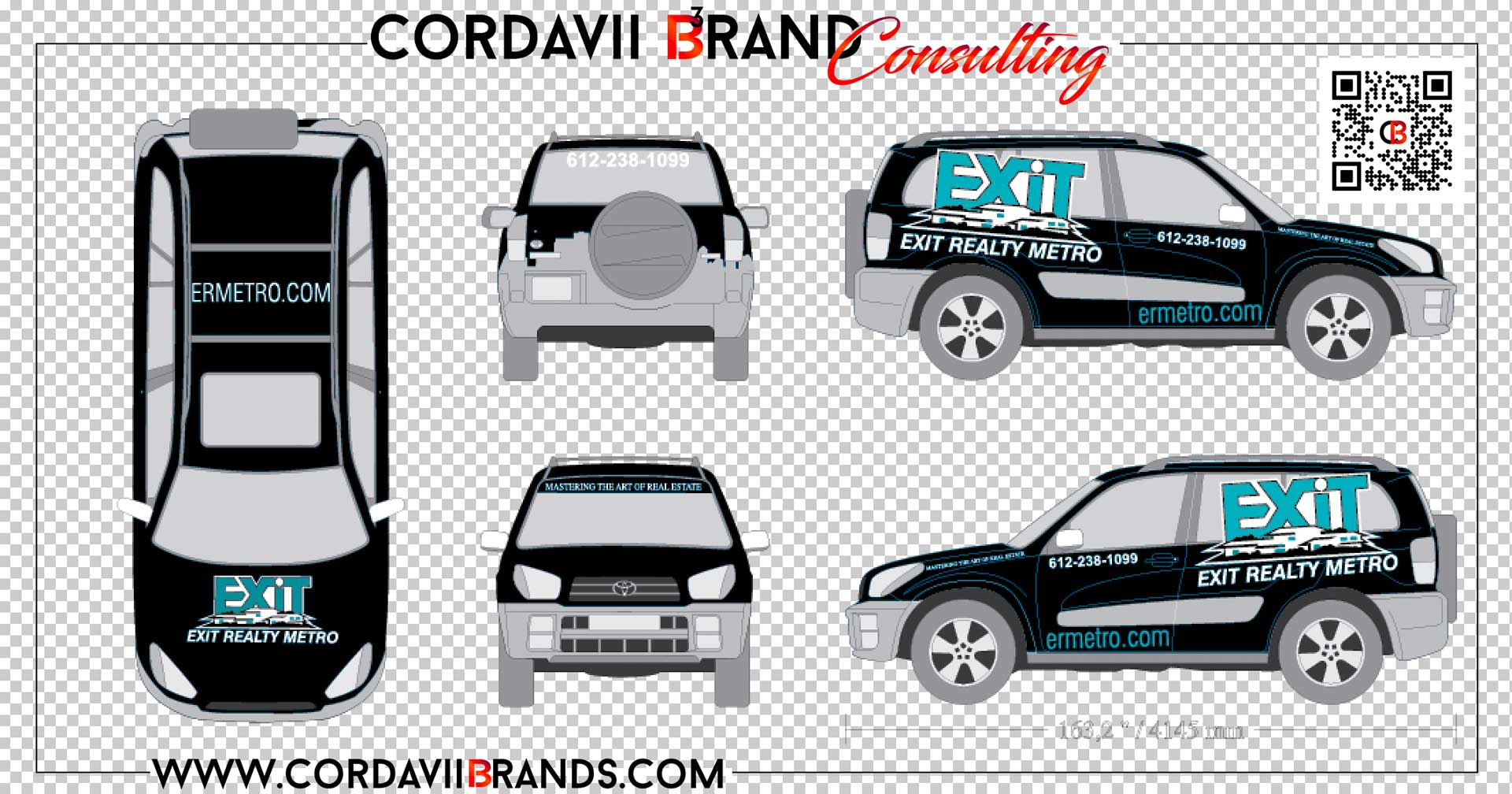 vehicle car wrap design by cordavii brand consulting